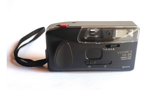 Câmera Máquina Fotográfica Antiga Yashica Yk-35