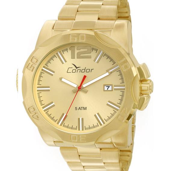 Relógio Condor Masculino Co2415aa/4x Original Dourado C/ Nfe