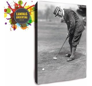 Cuadro De Fotos Antiguas De Golf Y De Todos Los Deportes