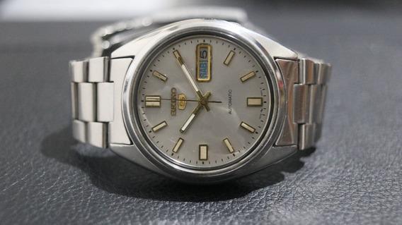Relógio Seiko Automático Mostrador Cinza Lindo