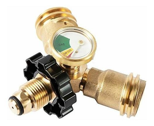 Medidor/manómetro/adaptador Para Tanque De Gas Lp/propano T