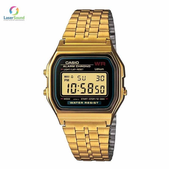 Relógio Casio Masculino A159wgea-1df, C/garantia E Nf