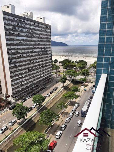 Apartamento Com 2 Dormitórios Com Vista Mar Sacada Em Santos - 5049