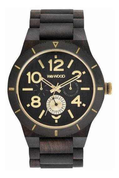 Relógio Madeira Masculino Wewood Kardo Black Wwkr08 C/ Nfe