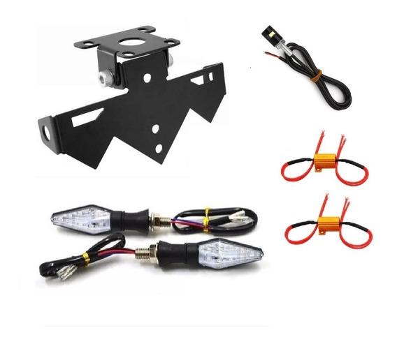 Eliminador Rabeta Z1000 Com Iluminação Placa Piscas Resistor