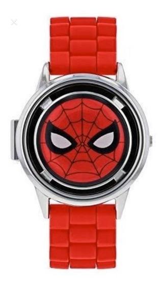 Reloj Spider-man Spinner Lcd Digital Original