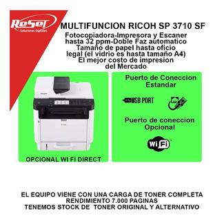 Impresora Multifuncion Fotocopiadora Ricoh Sp 3710 Sf +envio
