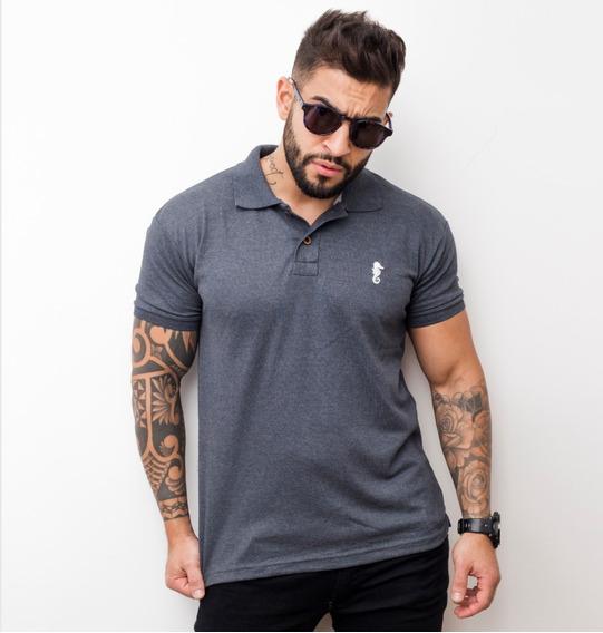 Camisa Gola Polo Em Malha Piquet Camiseta Barato