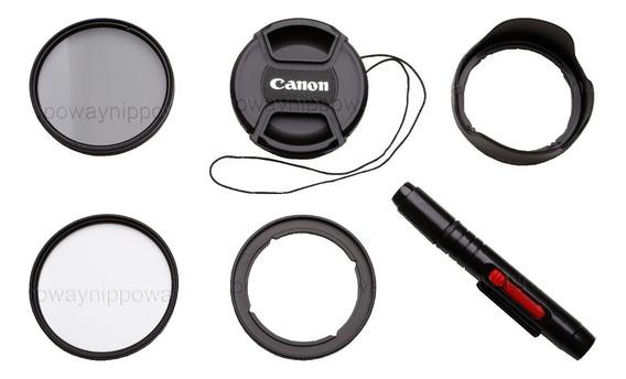 Kit Adaptador Canon Sx520 Sx530 Filtro Uv Cpl Parasol Tampa