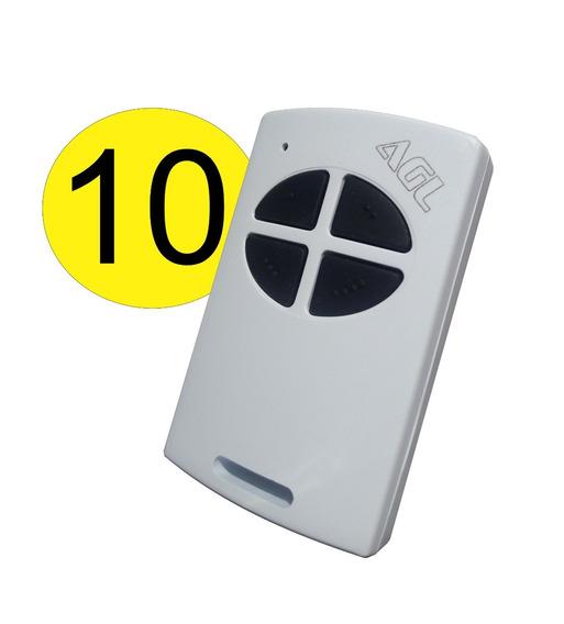 Kit 10 Controle Remoto Agl Para Alarme Portão Eletrônico 433