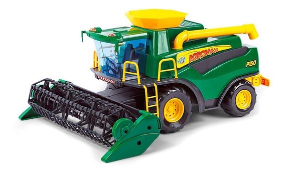 Brinquedo Infantil Colheitadeira Fazendeiro Verde - Poliplac