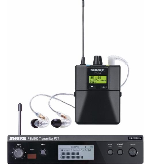 Sistema Sem Fio Shure In Ear Psm 300 P3tbrra215cl