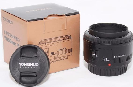 Lente Yongnuo 50mm F/1.8 CanonNovíssima Usada Umas 5 Vezes