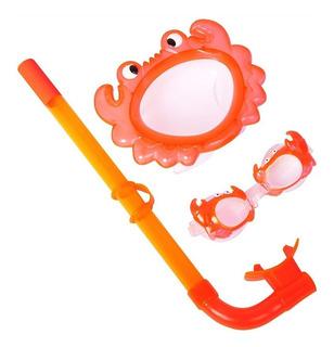 Snorkel Buceo Bestway Set Lentes Animalitos Infantil 24019 !