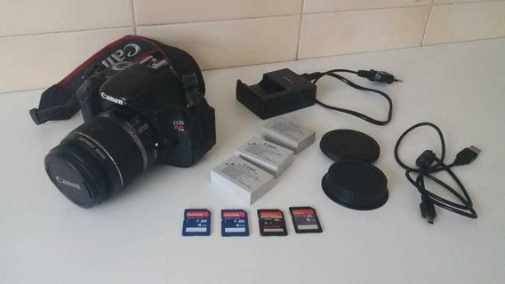 Câmera Fotográfica Semi Profissional Canon T3i Usada