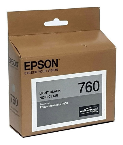 Imagem 1 de 2 de Cartucho 760 Light Black - Epson Surecolor P600