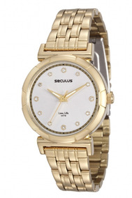 Relógio Séculus Feminino 23552lpsvda1 Dourado
