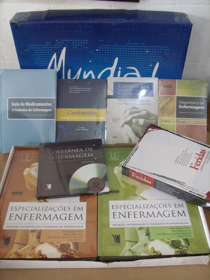 Lote 8 Livros Novos Enfermagem Cardiopatias Feridas Emergênc