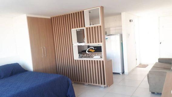 Flat Com 1 Dormitório Para Alugar, 35 M² Por R$ 1.500/mês - Ponta De Campina - Cabedelo/pb - Fl0073