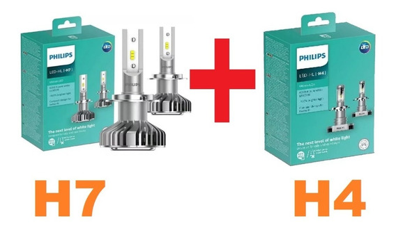 Led Philips Ultinon H7 + H4