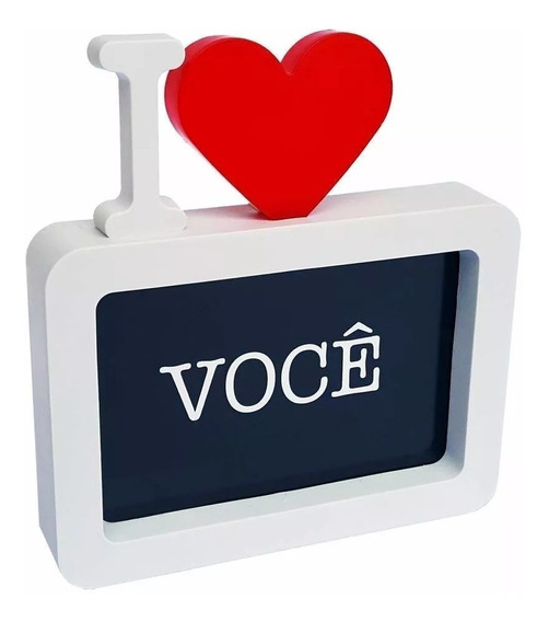 10/porta Retrato Decoração Coração I Love You Namorados