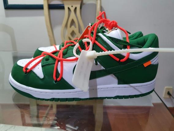 Tenis Nike Dunk Low X Off-white Pine Green