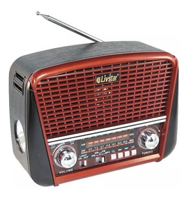 Radio Retro Antigo Livstar 3201 Am/fm Bluetooth Usb Lanterna