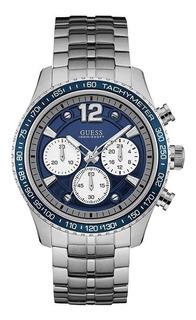 Reloj Guess W0969g1 Crono Acero Hombre Agente Oficial