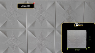Placa Antihumedad Para Techo Alicante 61.5x61.5cm Fabricante