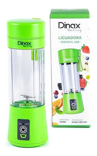 Mini Licuadora Recargable Usb Portatil Vaso 380 Ml Dinax