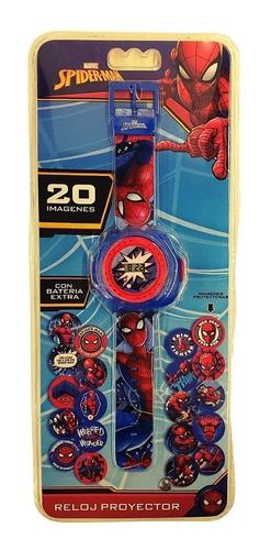 Imagen 1 de 4 de Reloj Spiderman Hombre Araña Disney Marvel Proyector Discos