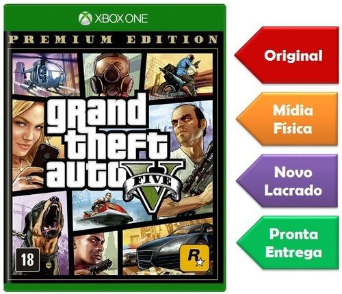 Gta 5 Premium Edition Xbox One Mídia Física Novo Lacrado