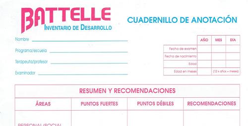 Test Infantil Battelle Inventario De Desarrollo