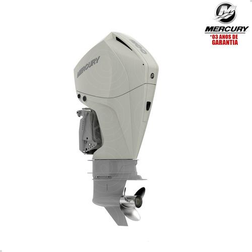 Motor Popa Mercury 4t 200hp Xl Efi V6 Mec Pess Física Branco