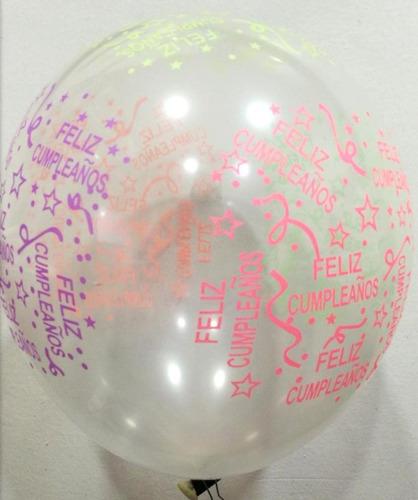 Bombas Globos Cristal Neon Cumpleaños X 12 Mayor Detal R12