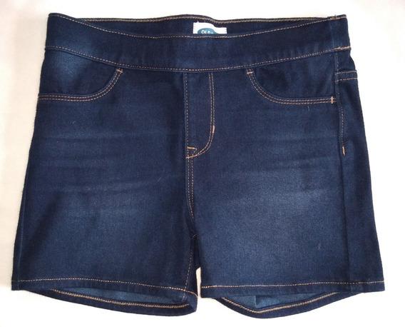 Short Old Navy De Jean Para Niña Talle 10-12 Color Azul