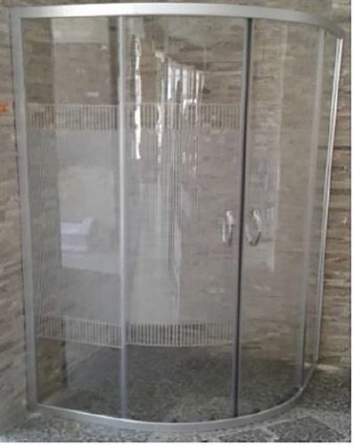 Imagen 1 de 2 de Esatto® Cancel Baño Curvo S/base C/rayas 90x90x185 Ca-009r