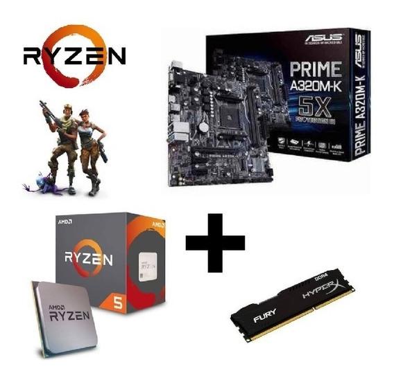 Kit Upgrade Gamer Asus + Ryzen R5 1600 + 8gb Ddr4 + Gabinete