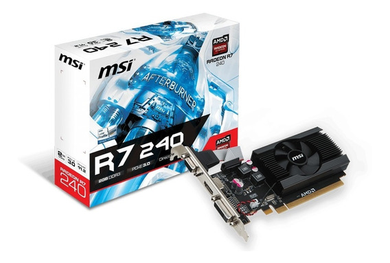 Msi Radeon R7 240 Oc 2gb Ddr3 4k Hdmi Vga Dvi Low Profile Oc