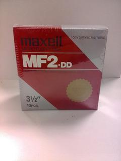 Caja Con Diskettes 3. 1/2 Maxell. Double Density. Sin Uso.