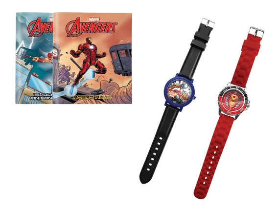Clarín Colección Marvel Set 3 De 2 Relojes
