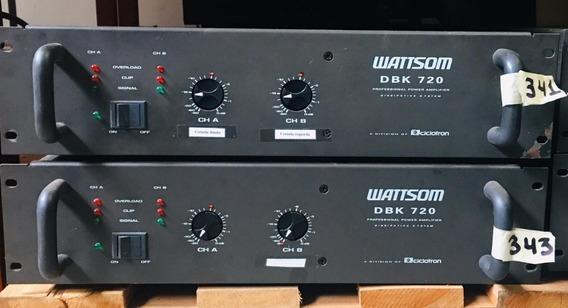 Amplificdor Wattsom Dbk720 - 12 X Sem Juros - Envio Gratis