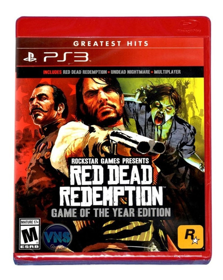 Red Dead Redemption Game Of The Year Ps3 Midia Física