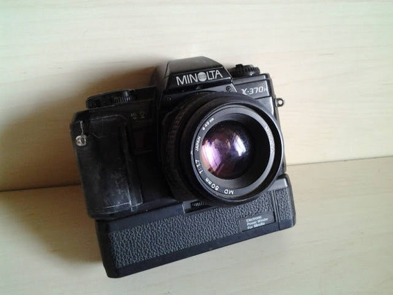 Máquina Fotográfica Antiga Minolta 370 N Com Winder