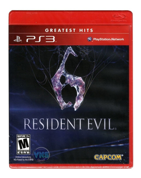 Resident Evil 6 Ps3 Mídia Física Lacrado Rj ( Em Inglês )