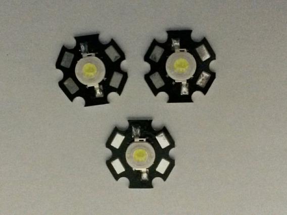 Power Led 3w Branco Frio 10000k A 15000k (5 Unidades)