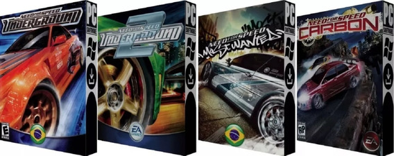 Nfs Underground 1 & 2, Most Wanted & Carbon - Pc - Digital