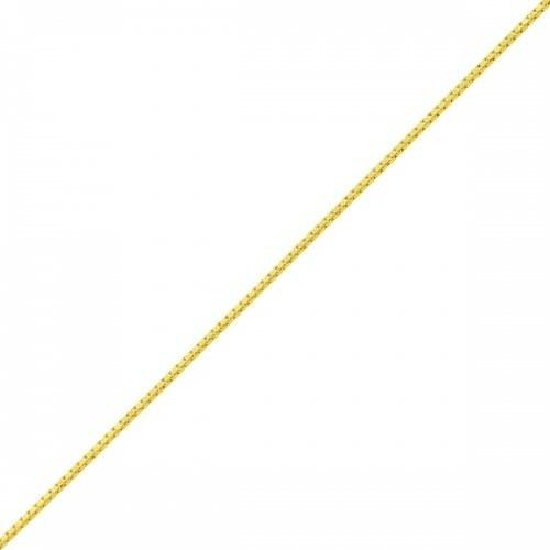 Tornozeleira De Ouro 18k Malha Veneziana Com 25cm To00154