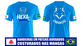 Camisa Hexa Taça Copa Do Brasil Cruzeirão Cabuloso Azul Céu