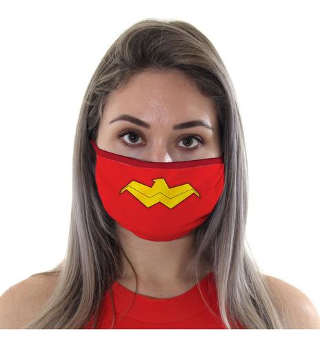 Mascara De Protecao Logo Mulher Maravilha Adulto